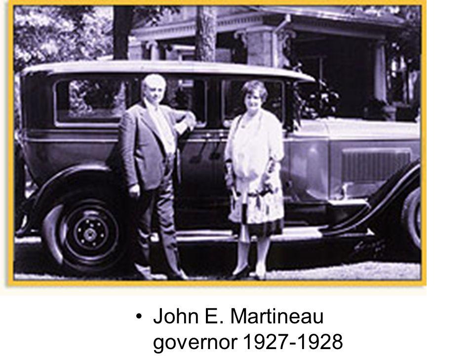 John E. Martineau governor 1927-1928