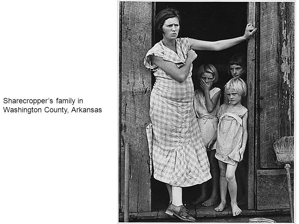 Sharecropper's family in Washington County, Arkansas