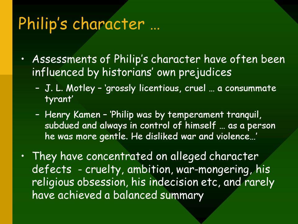 Philip's character … 'zero-defects mentality' or procrastinator.