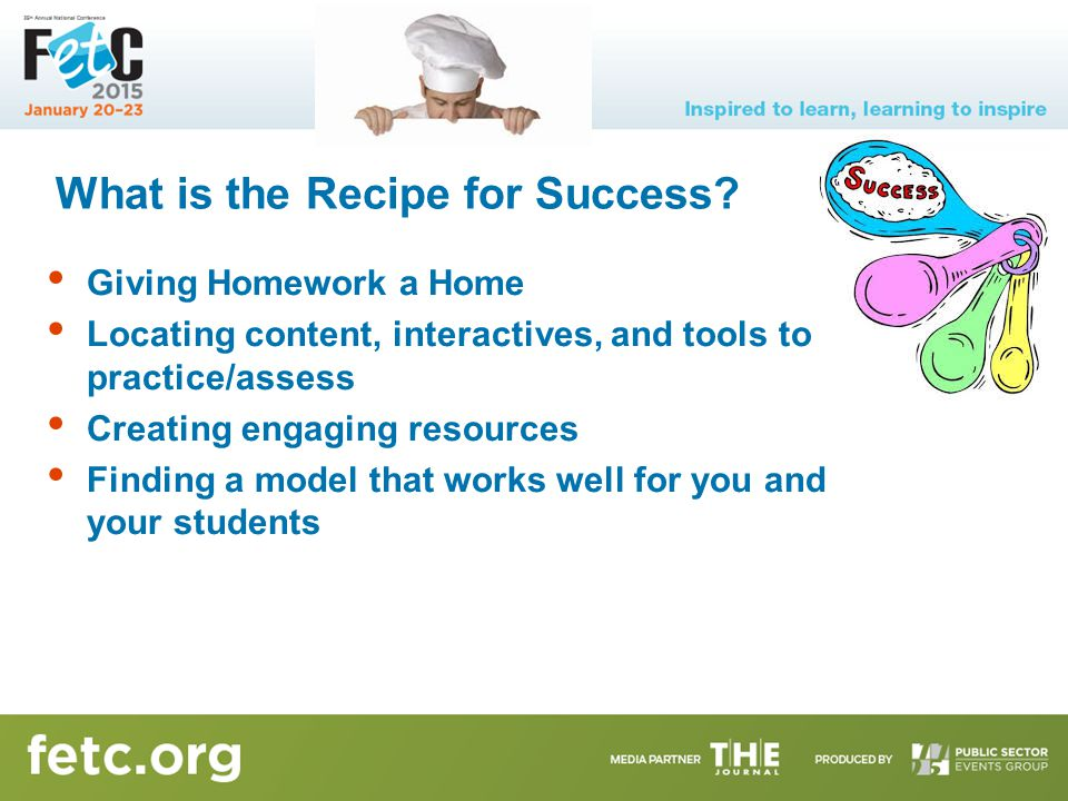 What is the Recipe for Success.