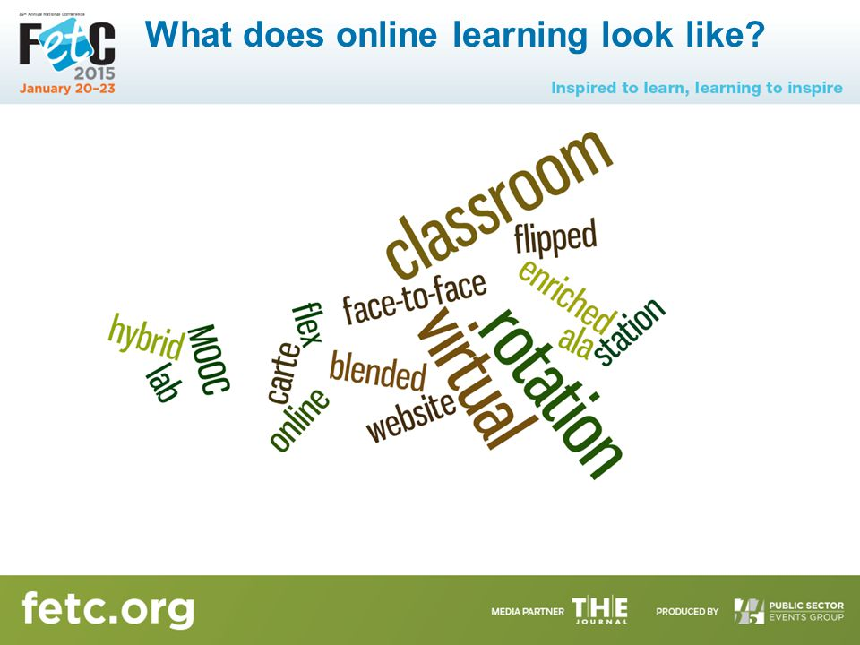 What does online learning look like