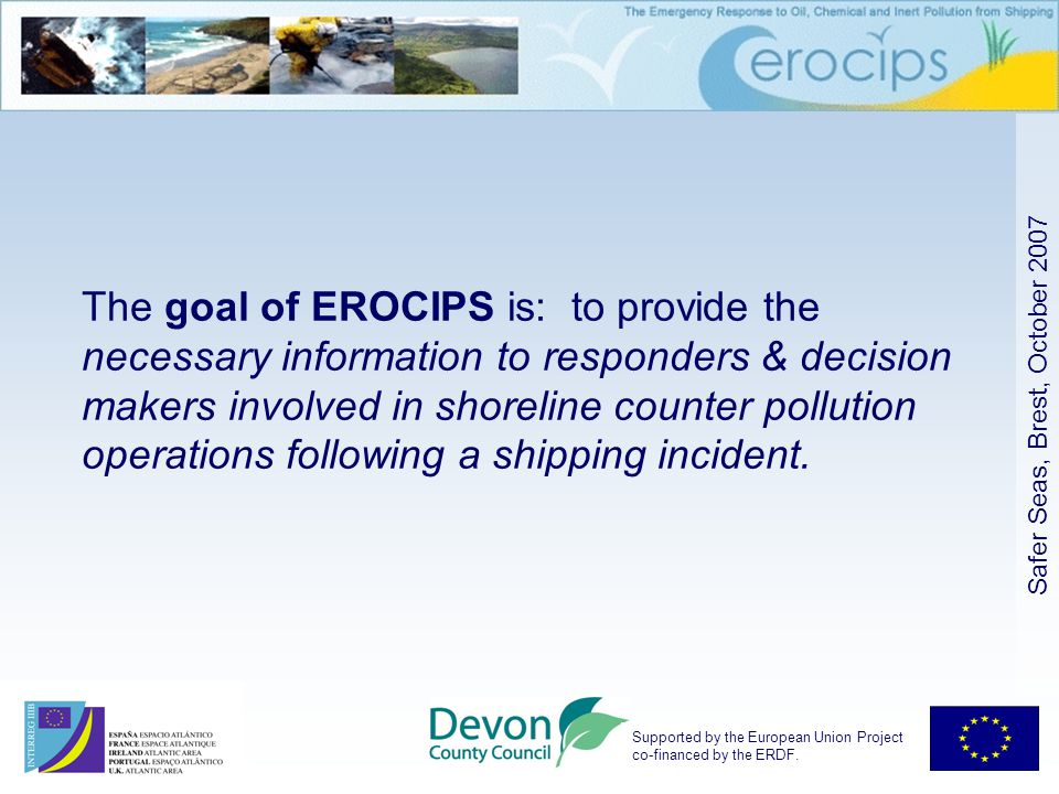 Supported by the European Union Project co-financed by the ERDF.
