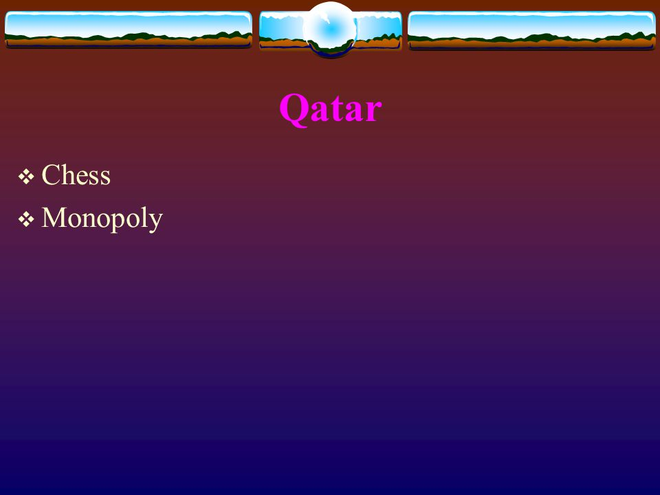 Qatar  Chess  Monopoly