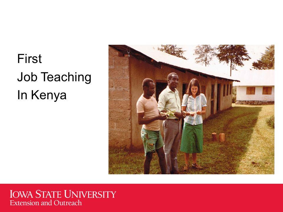 First Job Teaching In Kenya