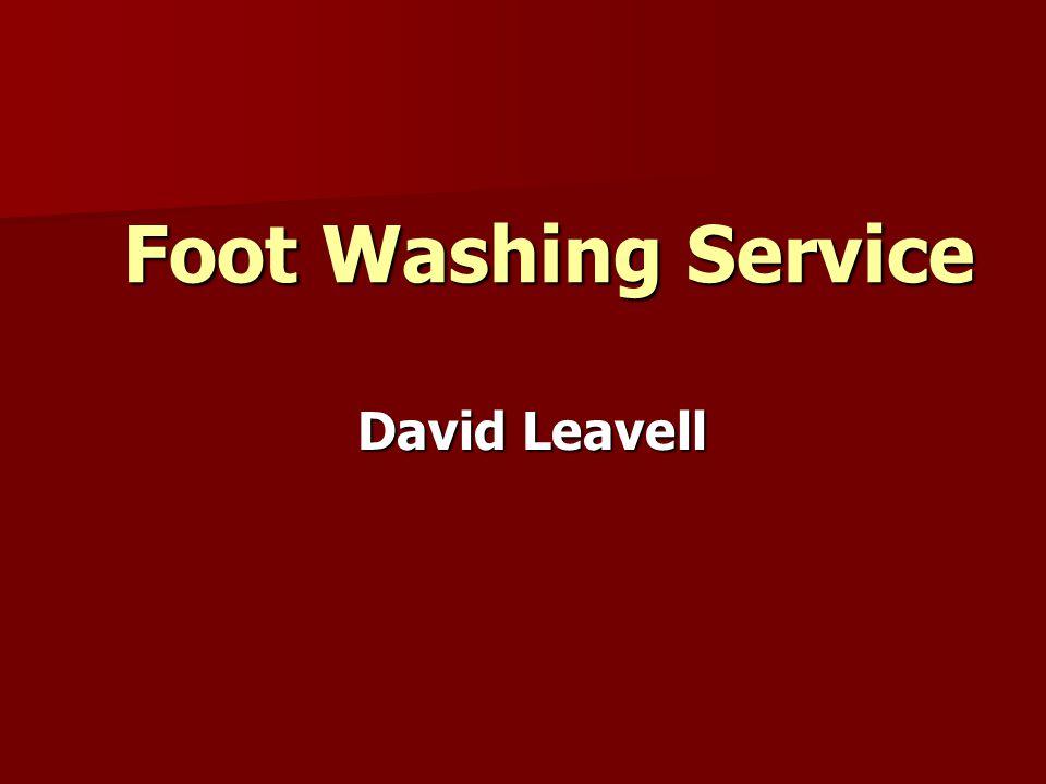 Foot Washing Service David Leavell