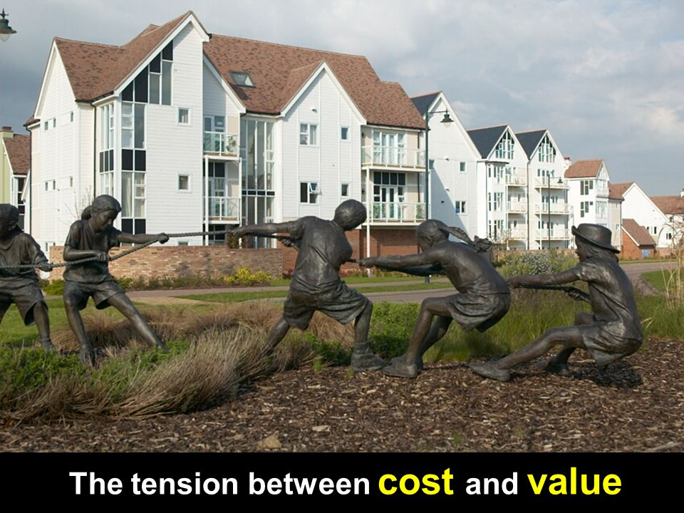 The tension between cost and value