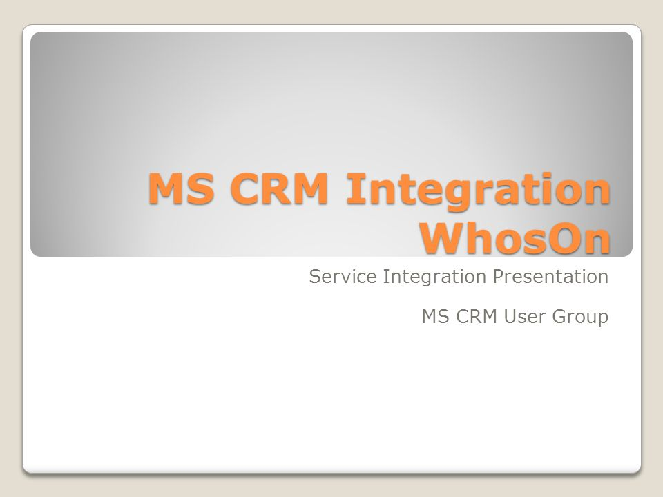 Our Aims Move leads from WhosOn to CRM.