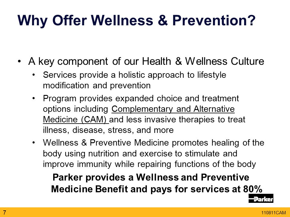 110811CAM Why Offer Wellness & Prevention.