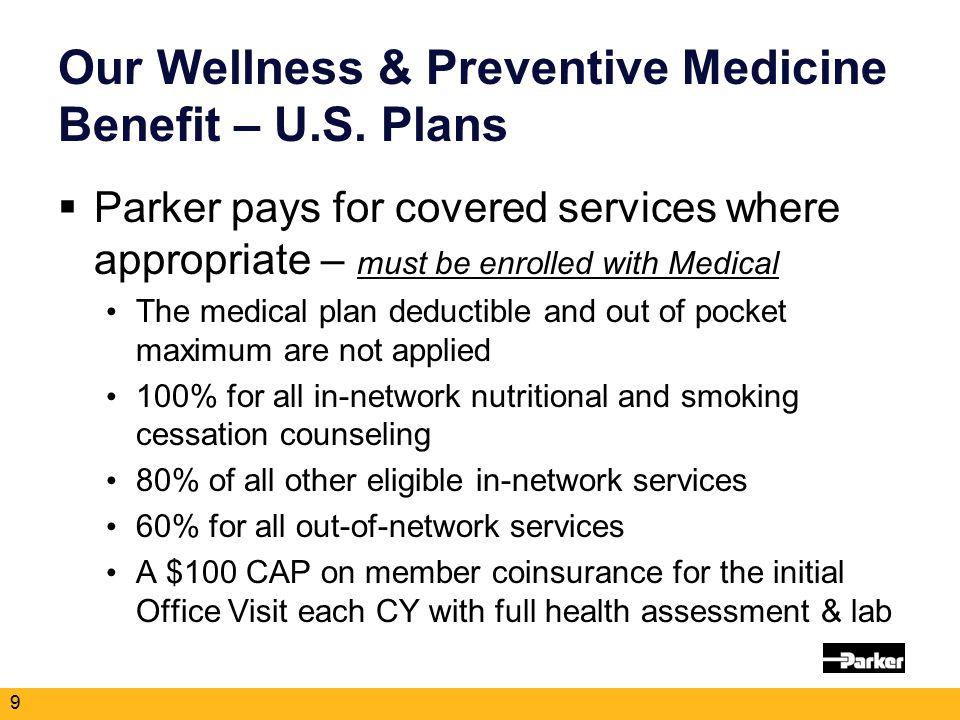 Our Wellness & Preventive Medicine Benefit – U.S.