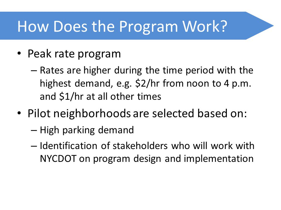 How Does the Program Work.
