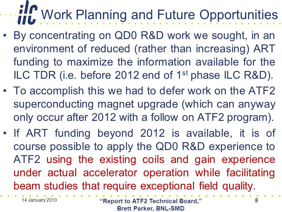 Backup Slides 14 January 2010 Report to ATF2 Technical Board, Brett Parker, BNL-SMD 9