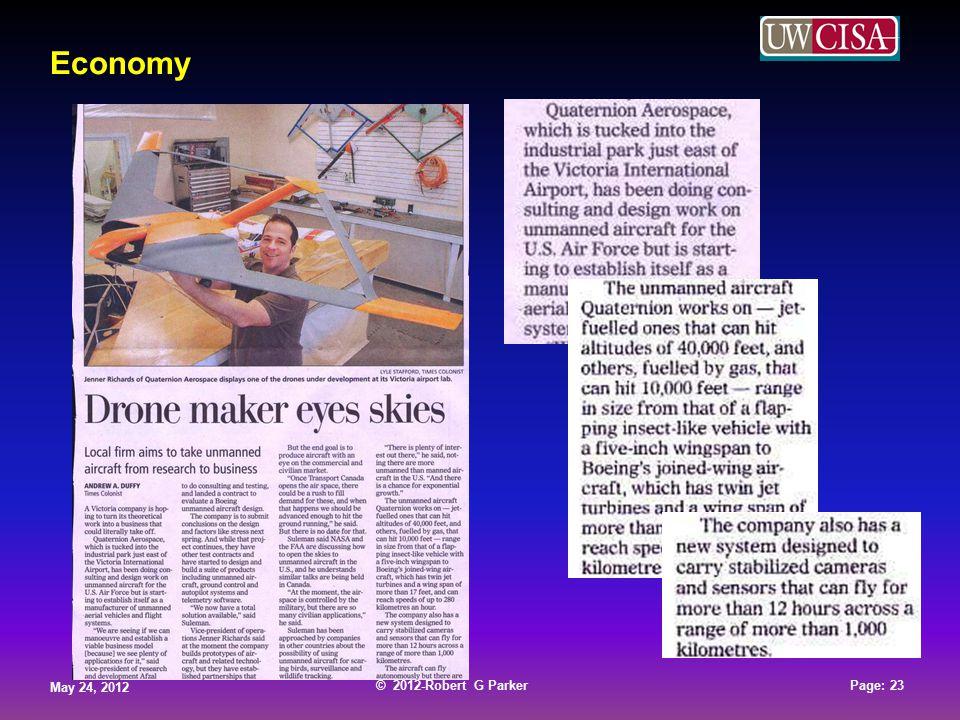 © 2012-Robert G Parker May 24, 2012 Page: 23 © 2012-Robert G Parker May 24, 2012 Page: 23 © 2012-Robert G Parker May 24, 2012 Page: 23 © 2012-Robert G Parker May 24, 2012 Page: 23 Economy