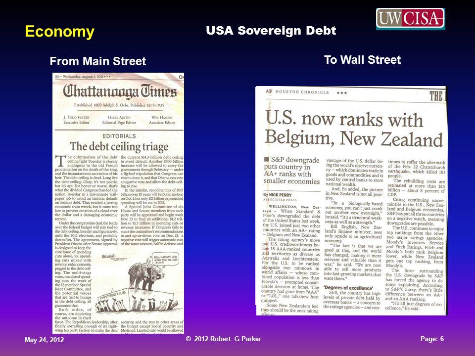 © 2012-Robert G Parker May 24, 2012 Page: 17 © 2012-Robert G Parker May 24, 2012 Page: 17 © 2012-Robert G Parker May 24, 2012 Page: 17 © 2012-Robert G Parker May 24, 2012 Page: 17 Economy