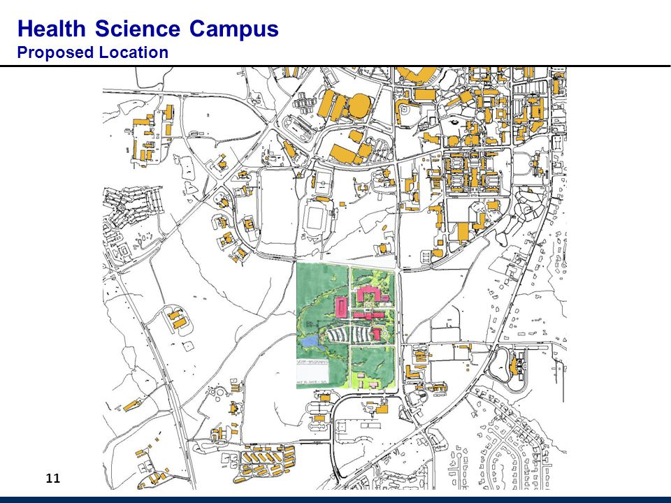 11 Health Science Campus Proposed Location
