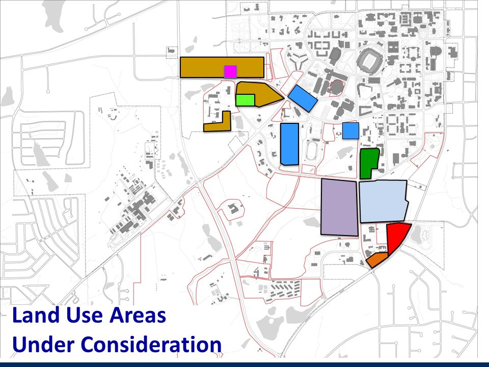 Land Use Areas Under Consideration