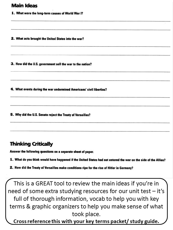 This is a GREAT tool to review the main ideas if you're in need of some extra studying resources for our unit test – it's full of thorough information, vocab to help you with key terms & graphic organizers to help you make sense of what took place.