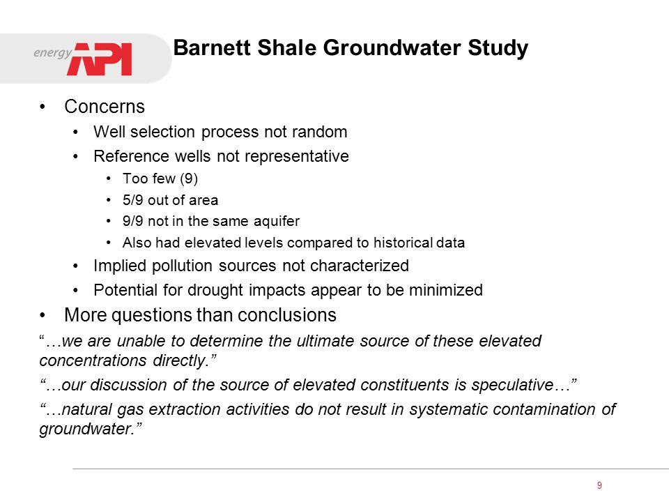 Barnett Shale Study Area 10