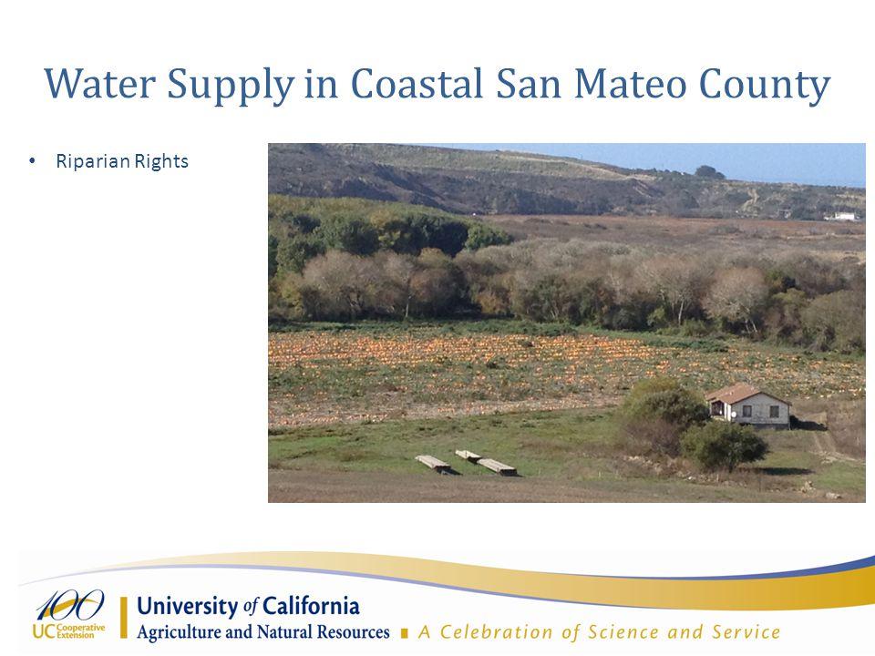 Water Supply in Coastal San Mateo County Riparian Rights