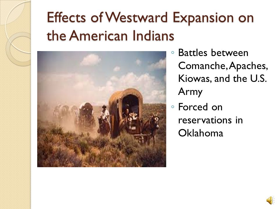 Factors Leading to Expansion of the Texas Frontier.