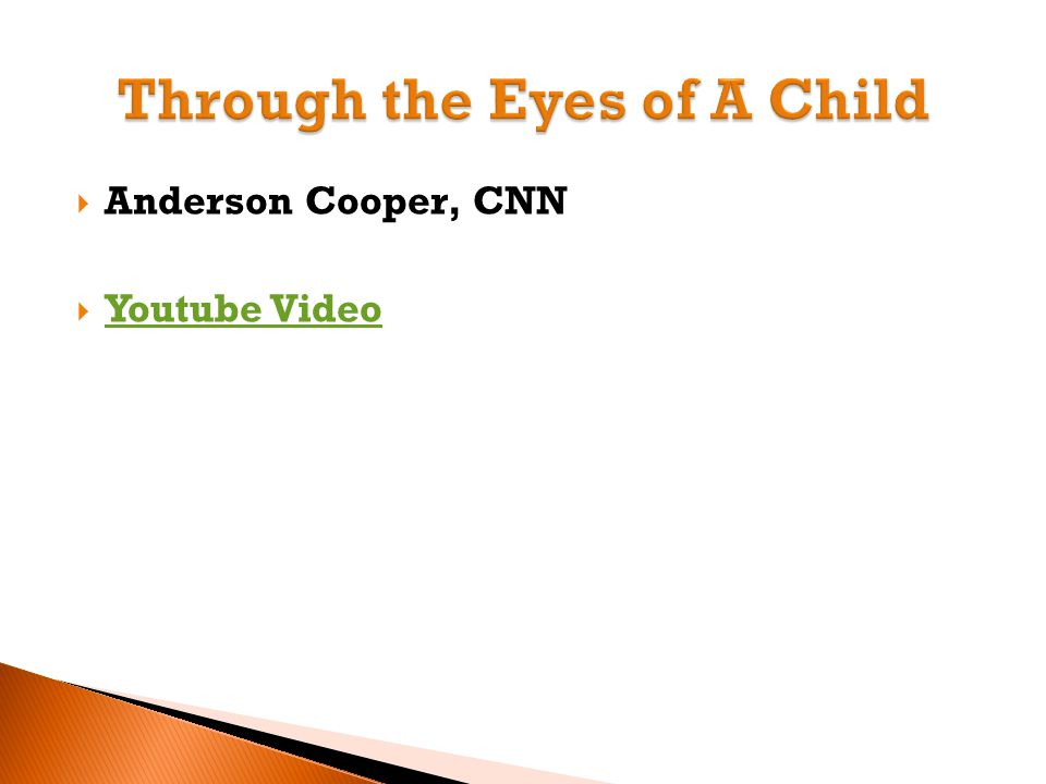  Anderson Cooper, CNN  Youtube Video Youtube Video