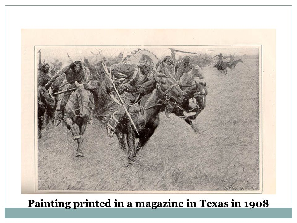 Painting printed in a magazine in Texas in 1908