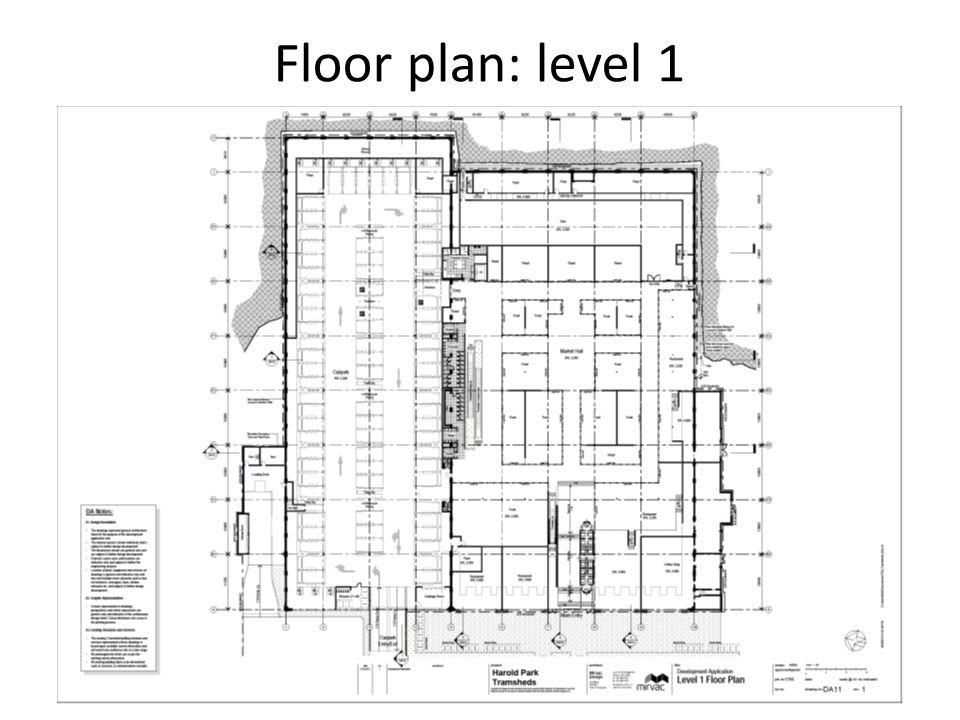 Floor plan: level 2 & 3