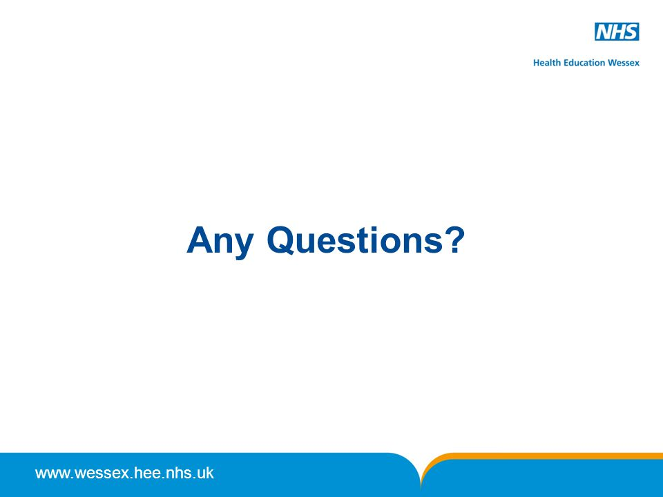 www.wessex.hee.nhs.uk Any Questions