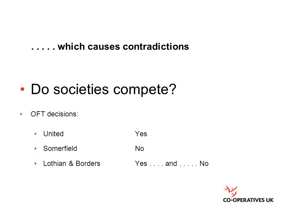 ..... which causes contradictions Do societies compete.