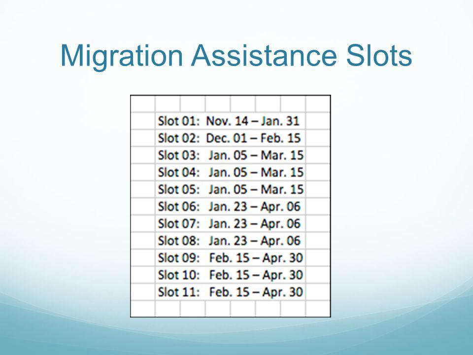 Migration Assistance Slots