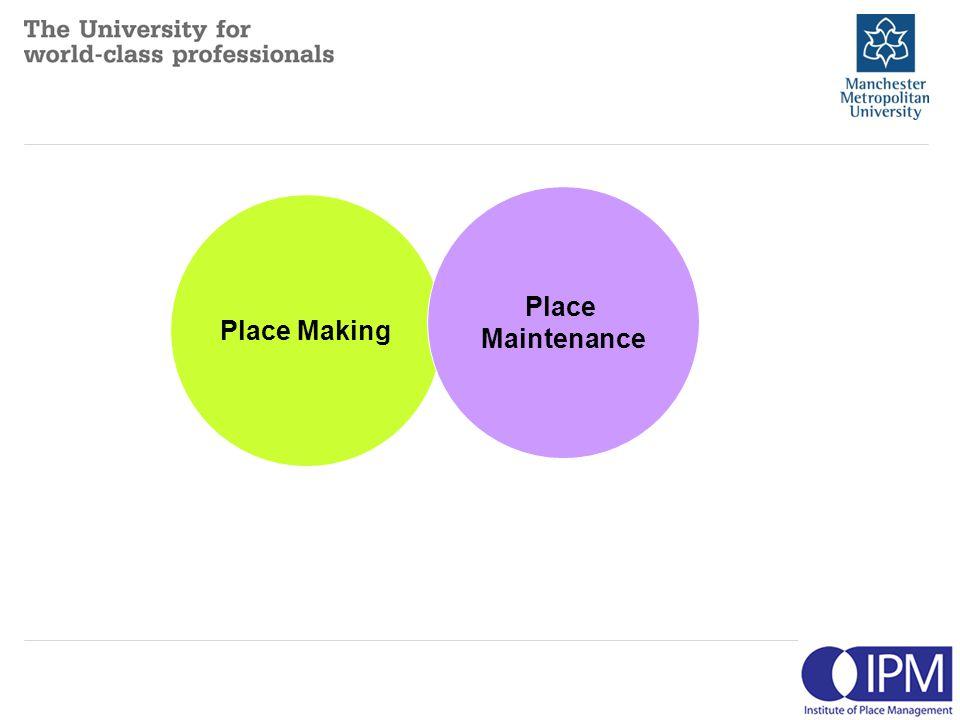 Place Making Place Maintenance