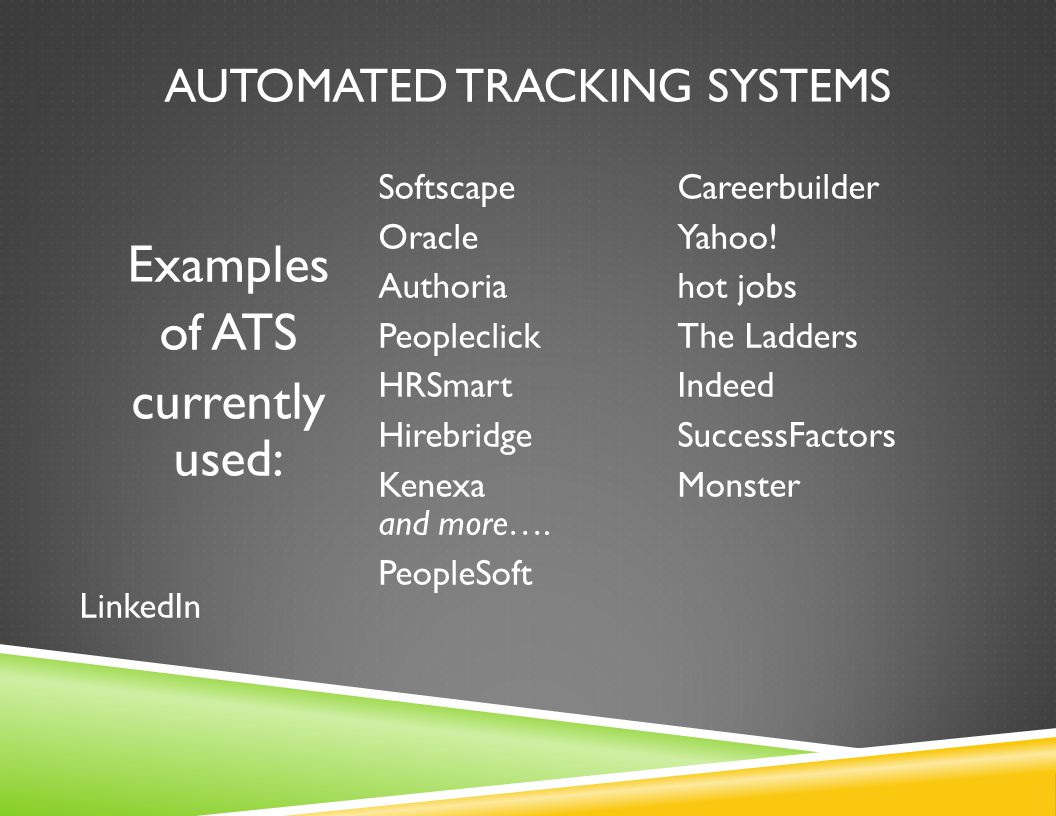 AUTOMATED TRACKING SYSTEMS How to optimize your clients' odds: 1.
