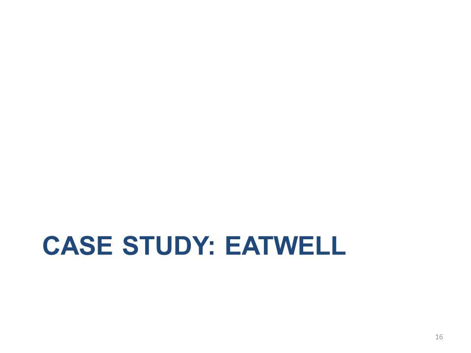 CASE STUDY: EATWELL 16