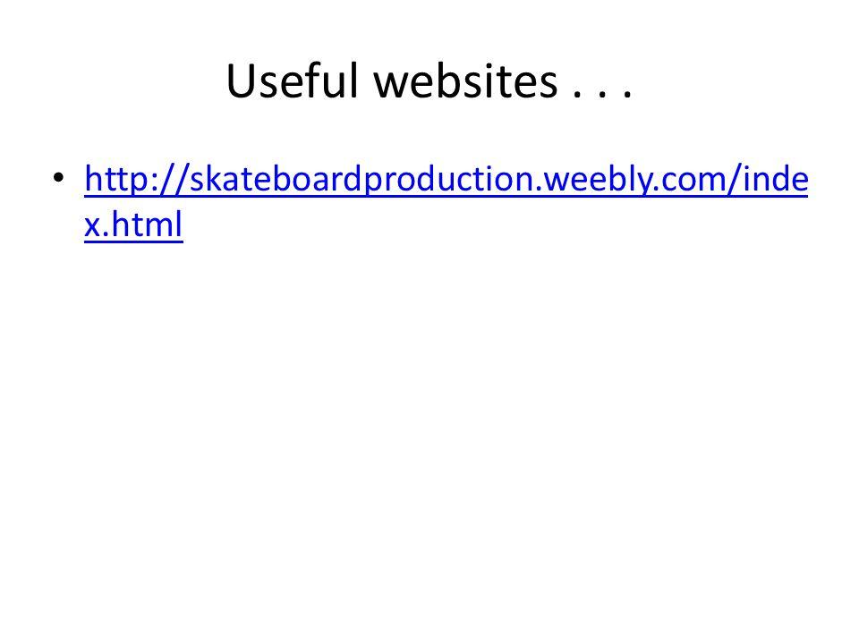 Useful websites...