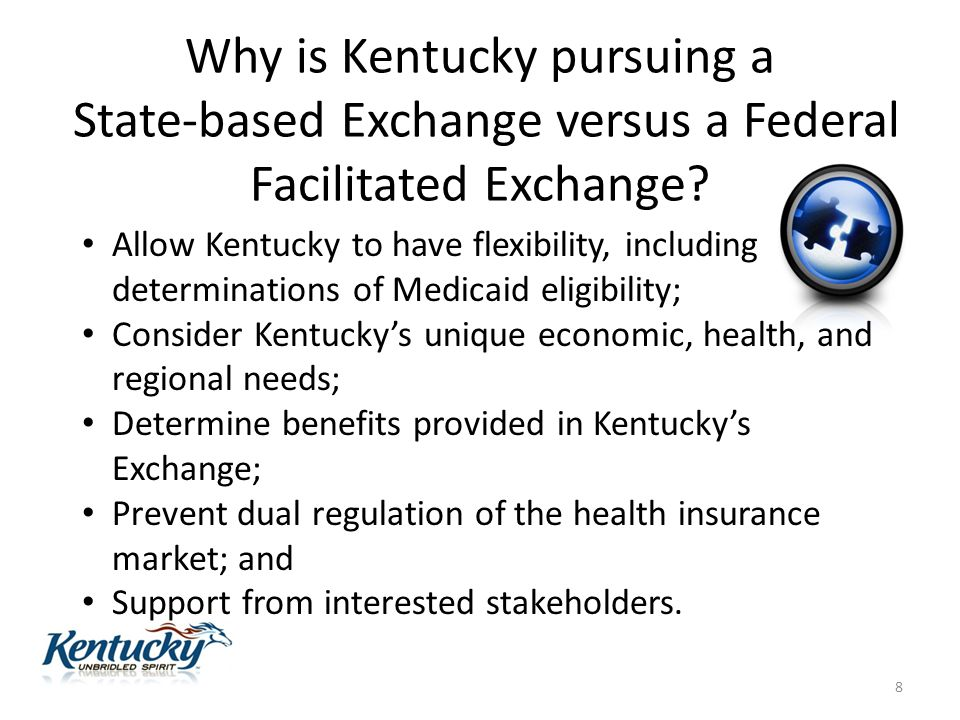 Why is Kentucky pursuing a State-based Exchange versus a Federal Facilitated Exchange.