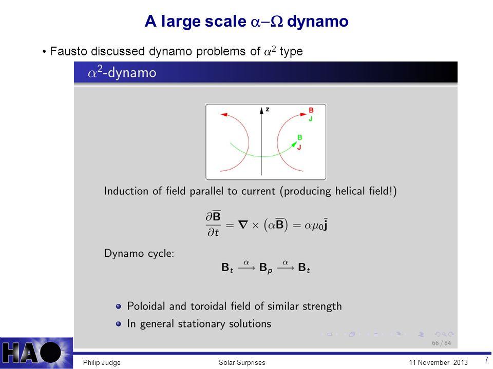 11 November 2013Solar SurprisesPhilip Judge R M = ∞ dynamics: Lagrangian model (no diffusion) C.
