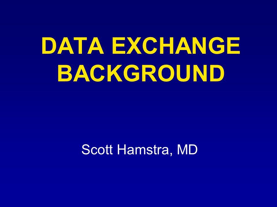 DATA EXCHANGE BACKGROUND Scott Hamstra, MD