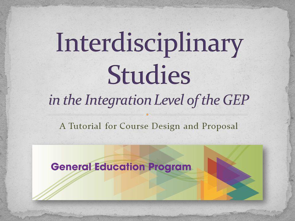 Introduction to Interdisciplinary Studies……….....................…...