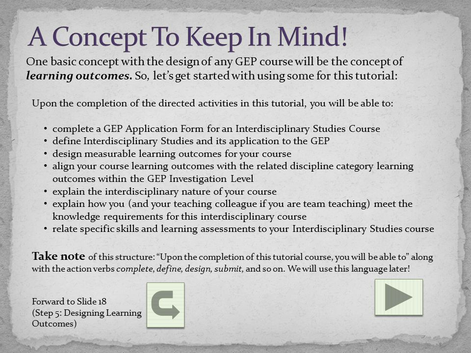 Defining Interdisciplinary Studies The following two definitions will further define Interdisciplinary Studies within the context of the GEP.