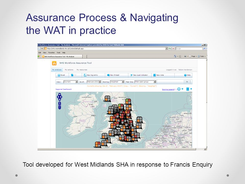 Assurance Process & Navigating the WAT in practice Tool developed for West Midlands SHA in response to Francis Enquiry