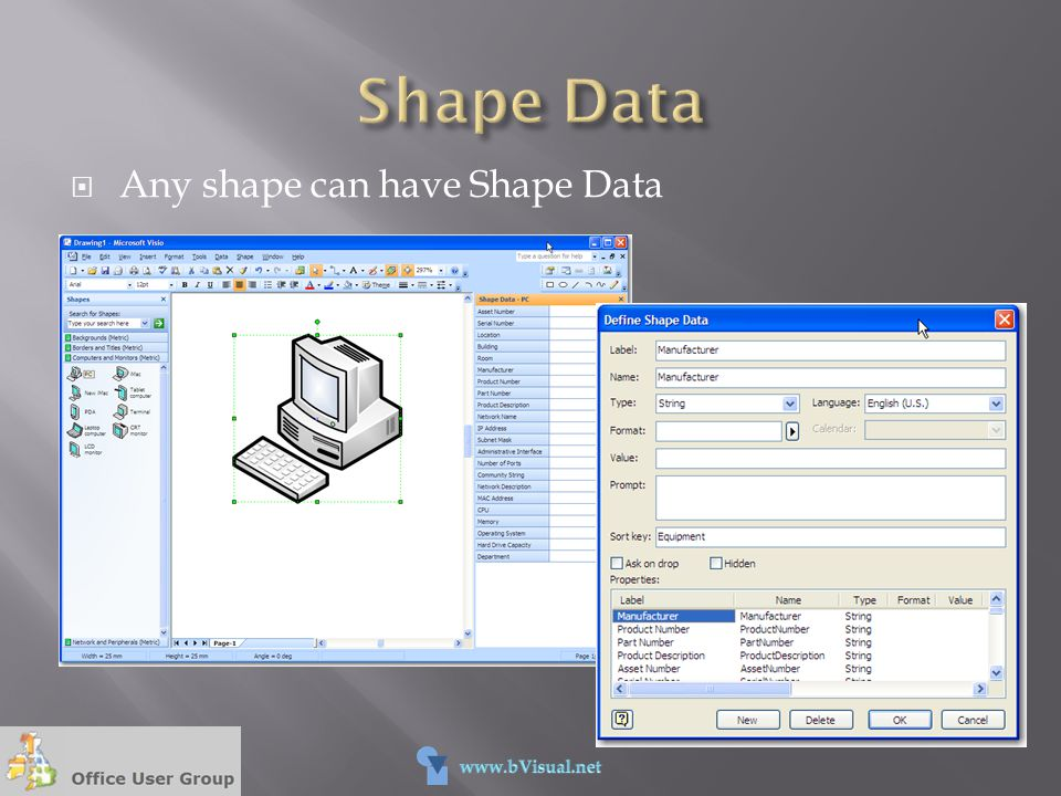  Any shape can have Shape Data