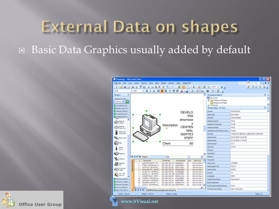  Basic Data Graphics usually added by default