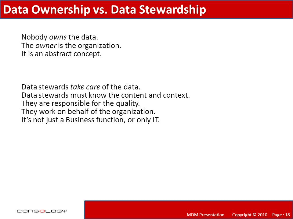 Data Ownership vs.