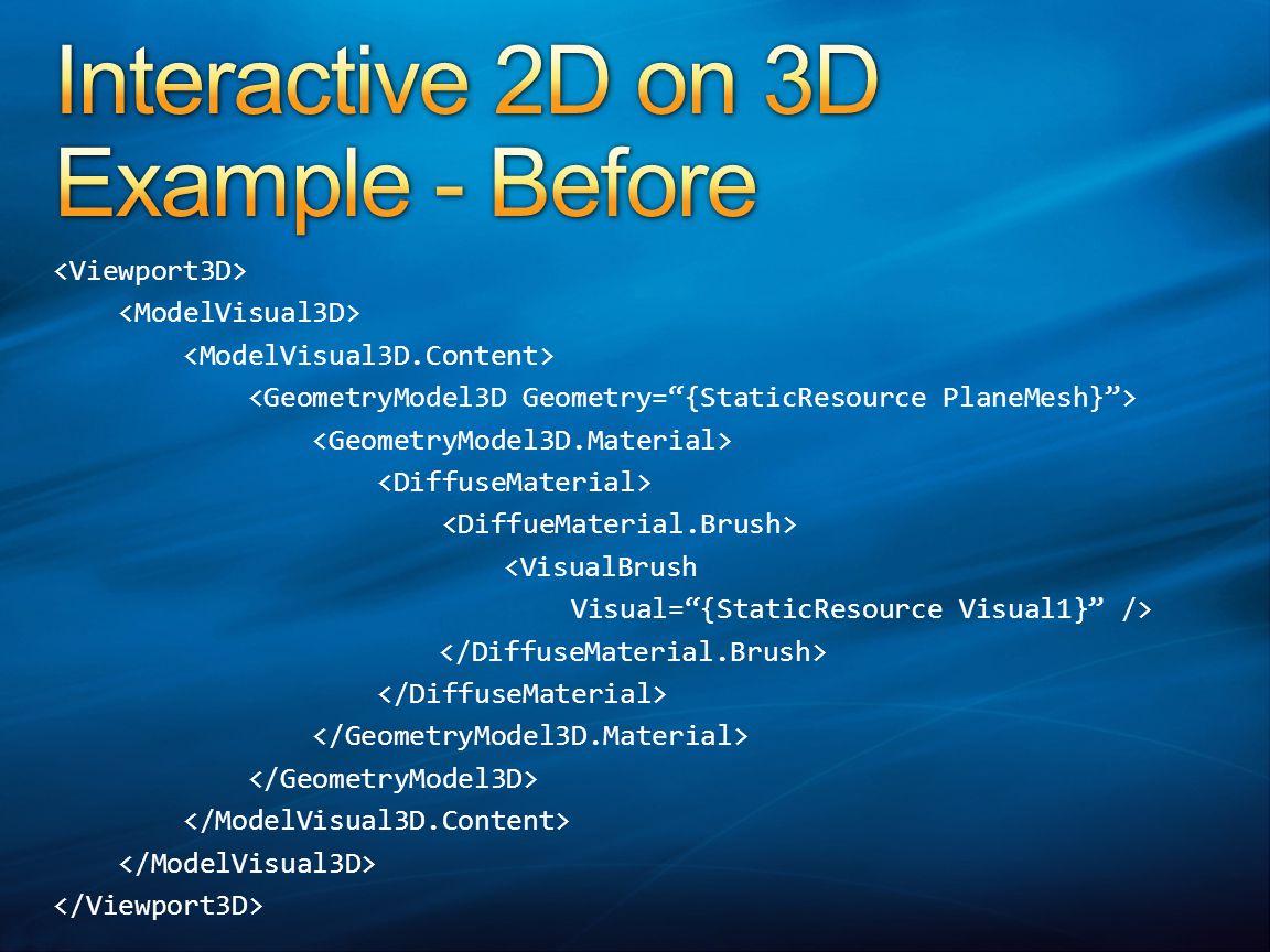 <VisualBrush Visual= {StaticResource Visual1} />