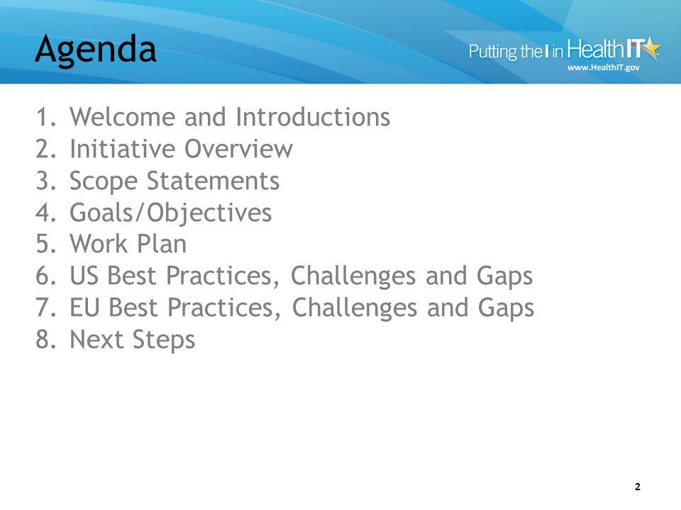 Workforce Support Leads 3 US Point of Contacts – Mera Choi, Mera.Choi@hhs.govMera.Choi@hhs.gov – Chitra Mohla, Chitra.Mohla@hhs.govChitra.Mohla@hhs.gov – Jamie Parker, jamie.parker@esacinc.comjamie.parker@esacinc.com – Gayathri Jayawardena, gayathri.jayawardena@esacinc.comgayathri.jayawardena@esacinc.com – Amanda Merrill, amanda.merrill@accenturefederal.comamanda.merrill@accenturefederal.com – Emily Mitchell, emily.d.mitchell@accenturefederal.comemily.d.mitchell@accenturefederal.com EU Point of Contacts – Benoit Abeloos, Benoit.ABELOOS@ec.europa.eu Benoit.ABELOOS@ec.europa.eu – Frank Cunningham, frank.cunningham@ec.europa.eufrank.cunningham@ec.europa.eu – Mary Cleary, mary@ics.iemary@ics.ie