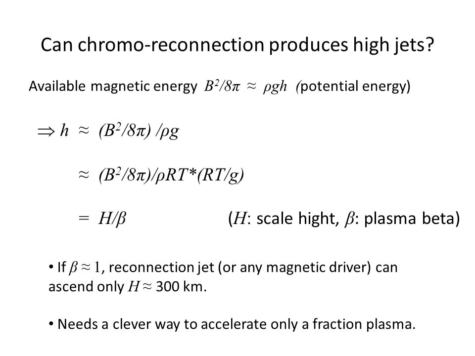Can chromo-reconnection produces high jets.