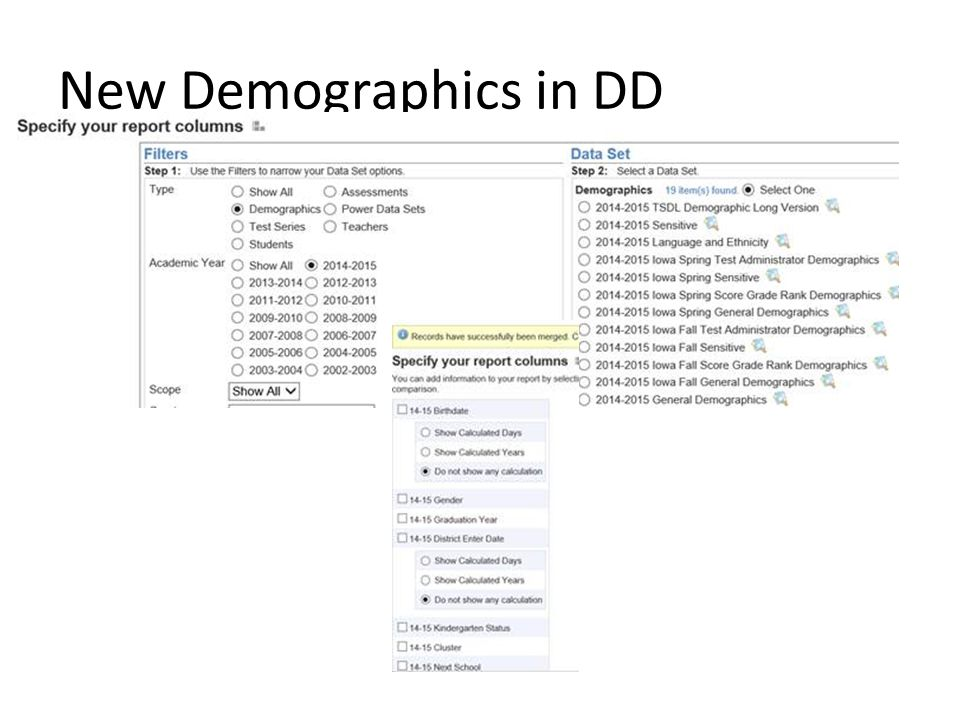 New Demographics in DD