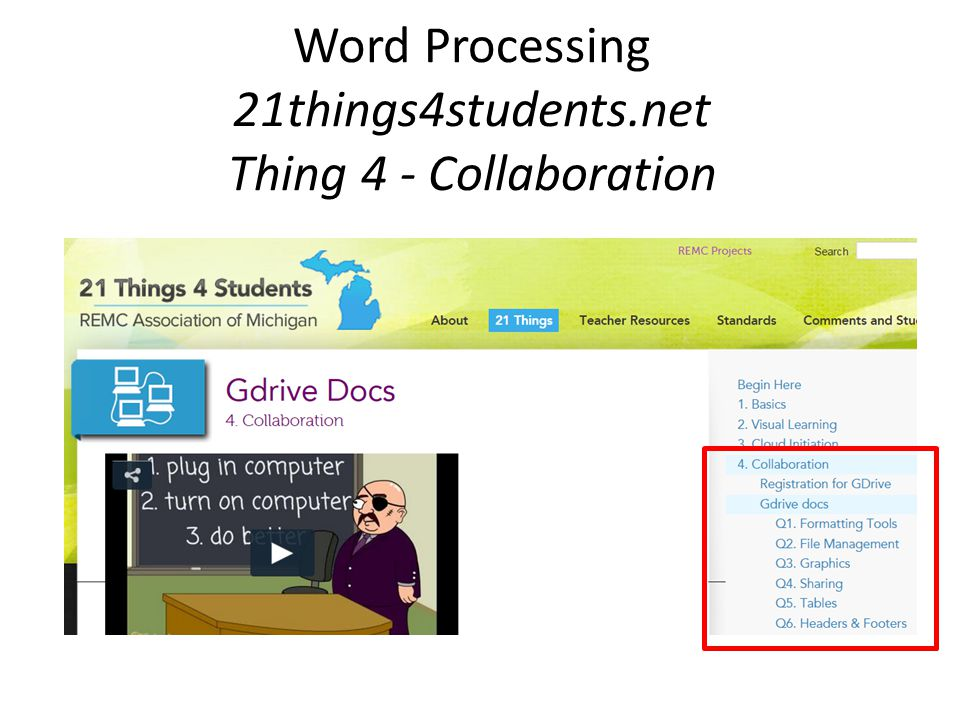 Word Processing 21things4students.net Thing 4 - Collaboration