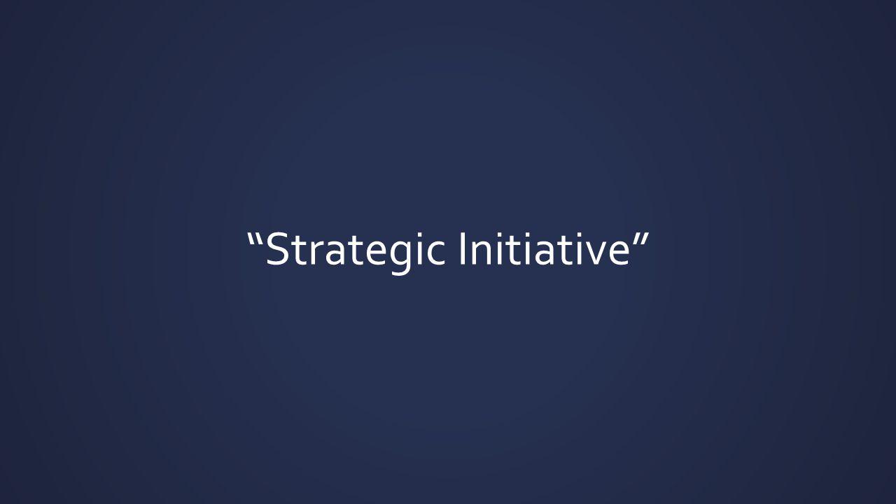 """""""Strategic Initiative"""""""