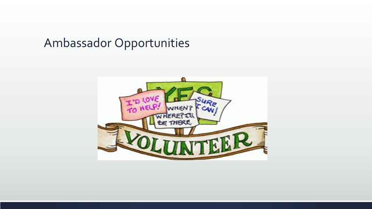 Ambassador Opportunities
