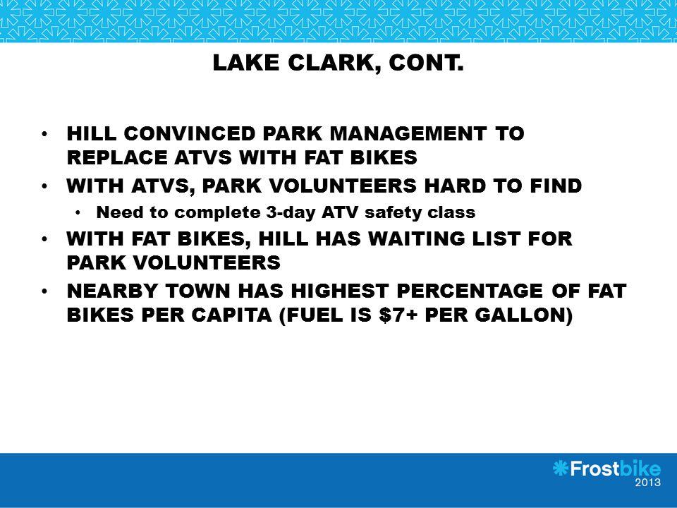 LAKE CLARK, CONT.